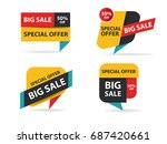 colorful shopping sale banner... | Shutterstock .eps vector #687420661