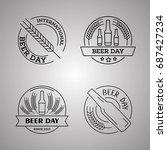international beer day  beer... | Shutterstock .eps vector #687427234