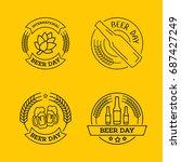international beer day  beer...   Shutterstock .eps vector #687427249