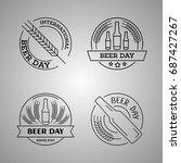 international beer day  beer... | Shutterstock .eps vector #687427267