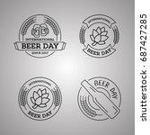 international beer day  beer... | Shutterstock .eps vector #687427285