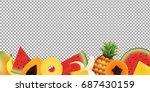 fruits frame | Shutterstock . vector #687430159