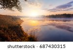 beautiful background of nature. ... | Shutterstock . vector #687430315