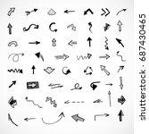 hand drawn arrows  vector set   Shutterstock .eps vector #687430465