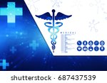 2d illustration health care and ... | Shutterstock . vector #687437539
