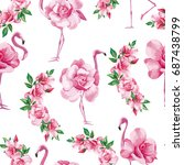 beach image exotic wallpaper... | Shutterstock .eps vector #687438799