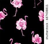 beach wallpaper with a...   Shutterstock .eps vector #687438811
