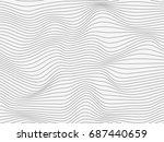 stripes.gray warped stripes... | Shutterstock . vector #687440659