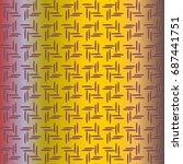 metal grid pattern for design...   Shutterstock .eps vector #687441751