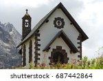 a little church | Shutterstock . vector #687442864