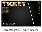 golden ticket | Shutterstock . vector #687442924
