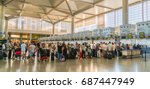 malaga  spain  july 2 2017 ... | Shutterstock . vector #687447949
