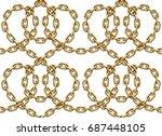 vector seamless pattern of... | Shutterstock .eps vector #687448105