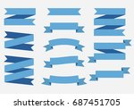 blue ribbons banners. | Shutterstock .eps vector #687451705