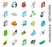 right icons set. isometric set... | Shutterstock .eps vector #687456304