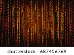 binary code background with...   Shutterstock .eps vector #687456769