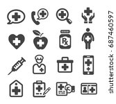 health medical icon | Shutterstock .eps vector #687460597