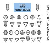 led light bulbs with gu10 and... | Shutterstock . vector #687462601