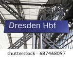 dresden hbf  main station  | Shutterstock . vector #687468097
