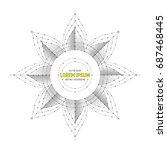 vector geometric symbol art... | Shutterstock .eps vector #687468445