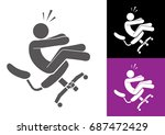 industrial accident chair | Shutterstock .eps vector #687472429