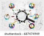 flat design illustration... | Shutterstock .eps vector #687474949