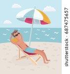 vector cartoon illustration of... | Shutterstock .eps vector #687475657