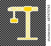 construction crane sign. vector.... | Shutterstock .eps vector #687475765