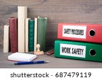 work safety and safety... | Shutterstock . vector #687479119