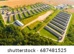 aerial view to pig farm in... | Shutterstock . vector #687481525
