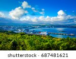 city view on george town  isle... | Shutterstock . vector #687481621
