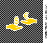 currency exchange from hand to... | Shutterstock .eps vector #687481864