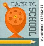 back to school banner poster... | Shutterstock .eps vector #687482455