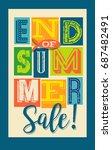 end of summer sale banner.... | Shutterstock .eps vector #687482491