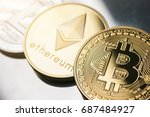 cryptocurrencys bitcoin ... | Shutterstock . vector #687484927