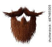 beard strong  hairy and curly... | Shutterstock . vector #687485305