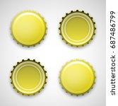picture of a beer metal lid.... | Shutterstock .eps vector #687486799