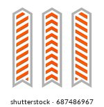 vector arrow banners set.... | Shutterstock .eps vector #687486967