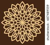 diy laser cutting pattern.... | Shutterstock .eps vector #687489559
