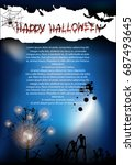 halloween background | Shutterstock .eps vector #687493645
