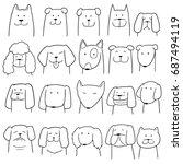 vector set of dog | Shutterstock .eps vector #687494119