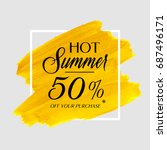 hot summer sale 50  off sign... | Shutterstock .eps vector #687496171