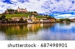 travel and landmraks of germany ... | Shutterstock . vector #687498901