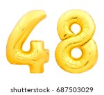 Golden Number 48 Forty Eight...