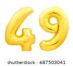 Golden Number 49 Forty Nine...