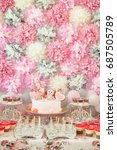 candy bar in pink colors for... | Shutterstock . vector #687505789