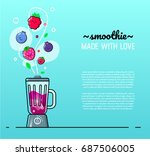 make a smoothie template.... | Shutterstock .eps vector #687506005