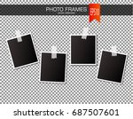 set of vintage photo frame with ... | Shutterstock .eps vector #687507601