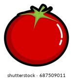 a red tomato flat design | Shutterstock .eps vector #687509011