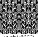 seamless pattern of japanese... | Shutterstock .eps vector #687509899